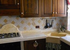 lavello marmo angolare